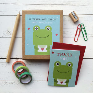 Children's Mini Thank You Cards Frog