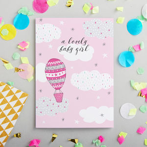 Baby Girl Card - new baby & christening cards