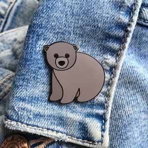 Baby Bear Enamel Pin - pins & brooches