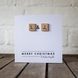 Personalised Scrabble Christmas Card - cards & wrap