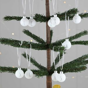 'Merry Christmas' Baubles - tree decorations