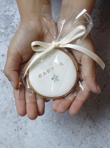 30 Personalised Baby Shower Cookies