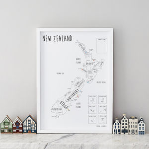 Personalised New Zealand Pinboard Map - picture frames for children