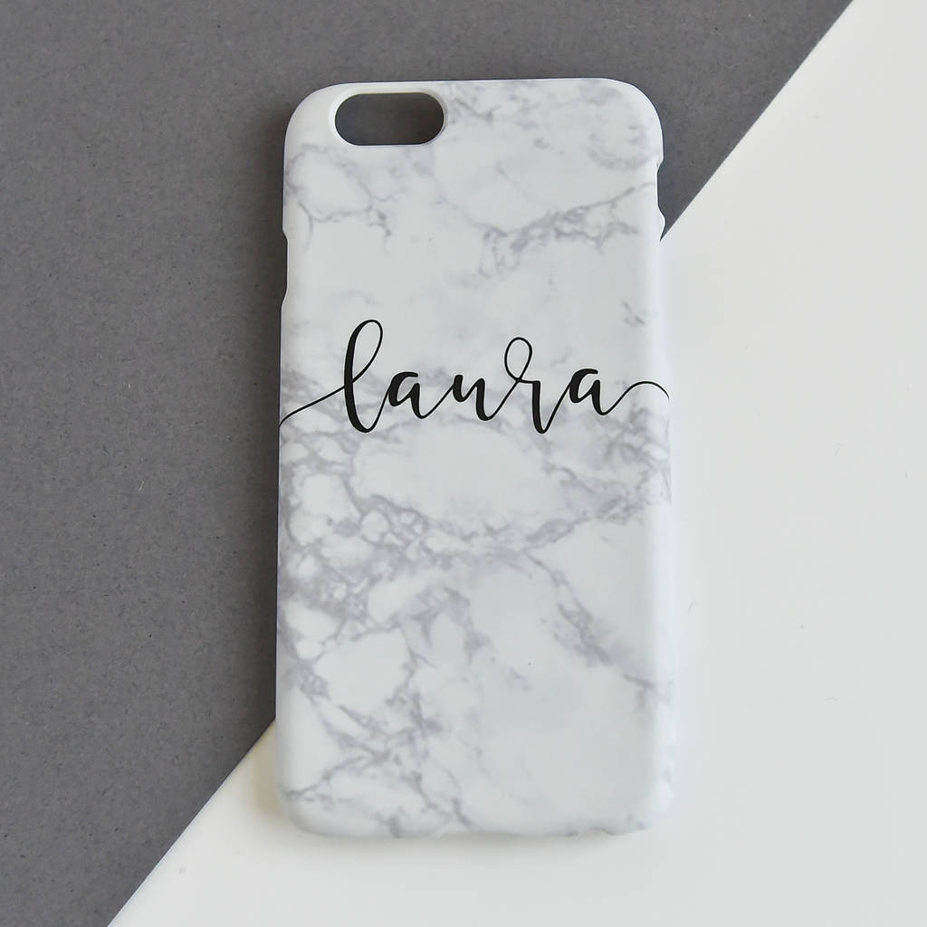 Personalised Marble Mobile Phone Case By Koko Blossom