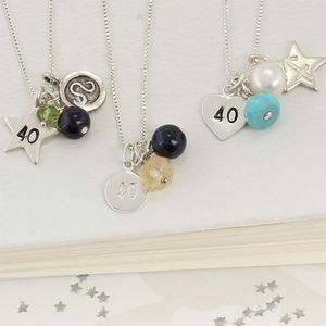 Celebrate 40th Birthday Necklace - necklaces & pendants