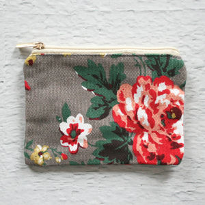 Pastel Floral Print Coin Purse - purses & wallets