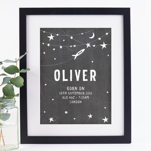 Personalised New Baby Print - posters & prints