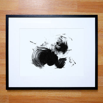Abstract Art Print Black And White