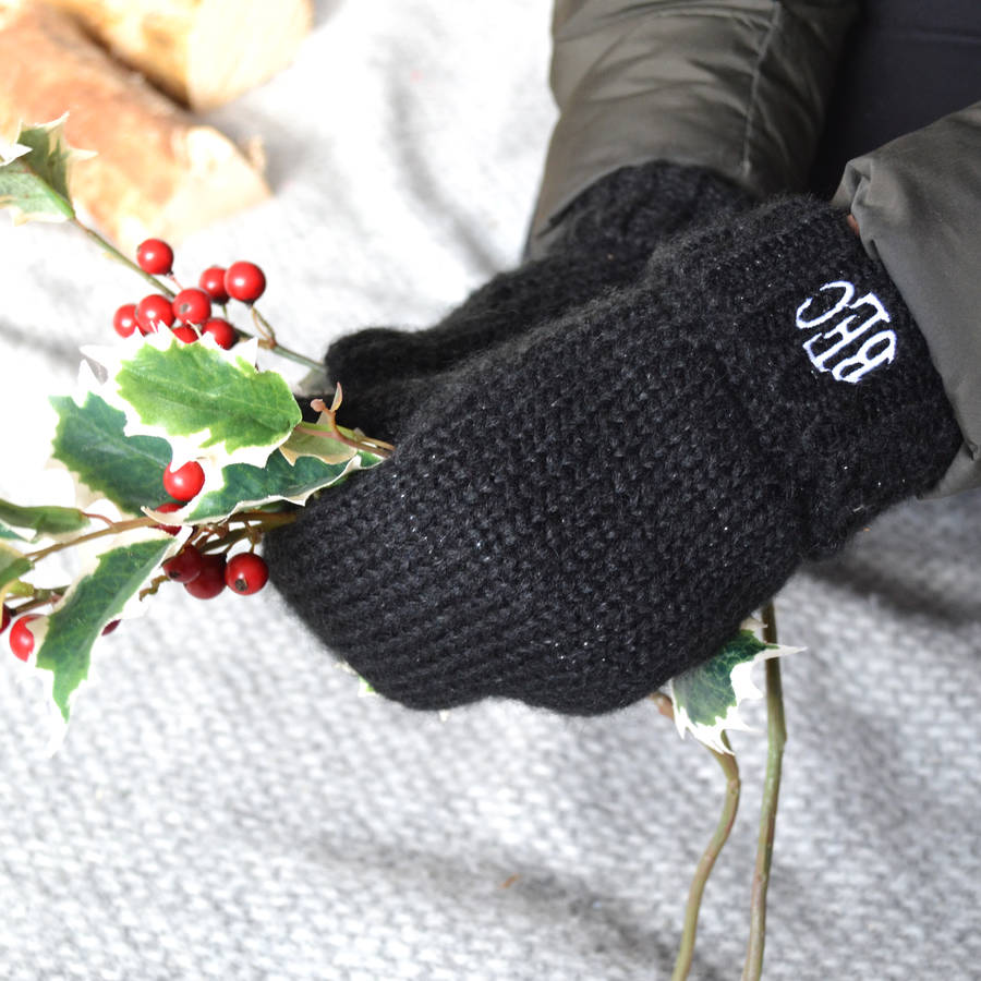 Personalised Monogram Mittens