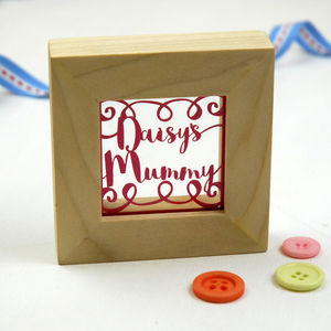 Mother's Day Tiny Framed Papercut