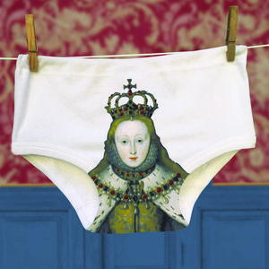 Underwear For Men And Women Queen Elizabeth 1st Print