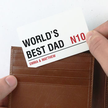 Personalised 'Street Sign' Wallet Card