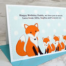 Large A5 personalised birthday card for Dad, Daddy, Grandad, Papa etc from three babies or children