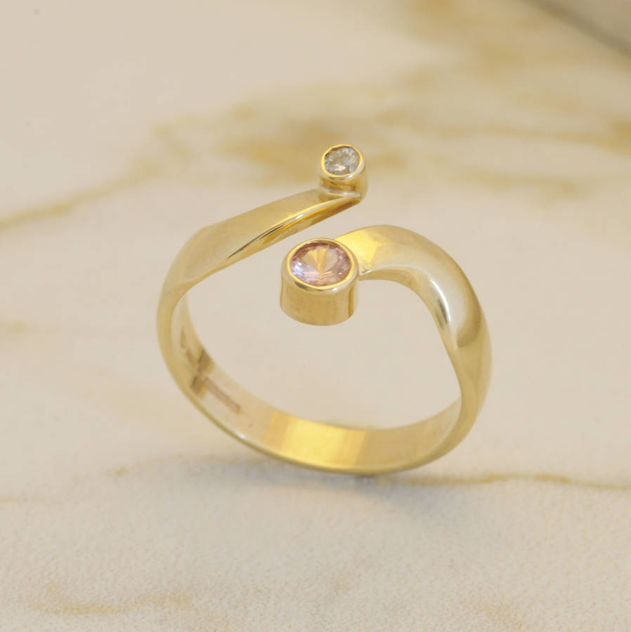 context large and pink ring gold p white diamond sapphire