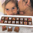 Personalised I Love You Mummy Chocolate Gift