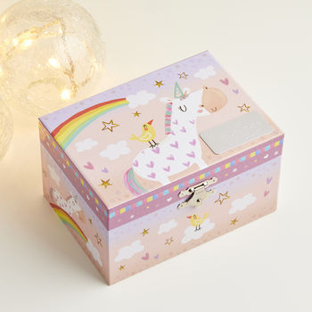 Personalised Unicorn Musical Keepsake Box