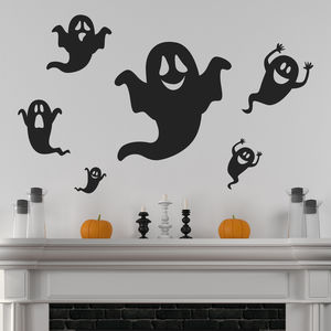 Halloween Ghosts Wall Stickers - party decorations