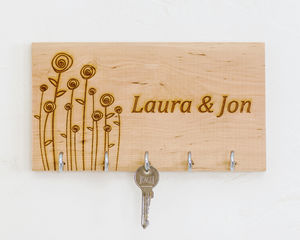 Personalised Wooden Key Organiser