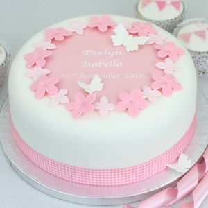Personalised Girls Christening Cake Decoration Kit - christening & naming days