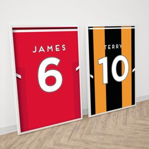 Personalised Football Shirt Print - children's room
