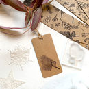 Scots Pine Tree Sprig And Cone Rubber Stamp