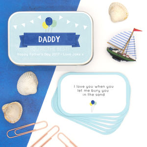 Personalised Father's Day Memory And Messages Gift Tin