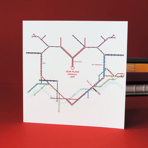 'Our Place' Valentine's Card - original valentine's cards