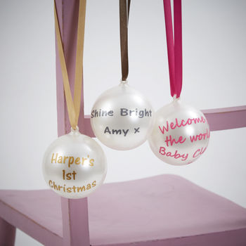Personalised Pearlescent Bauble