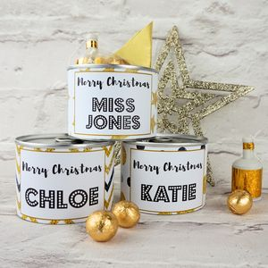 Gold Christmas Cracker Tin - table decorations