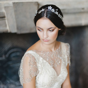 Flora Silver Bridal Headpiece - wedding fashion