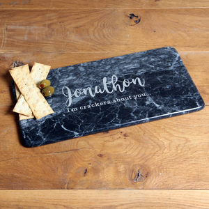 Marble Personalised Dark Script Board