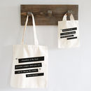 Personalised Teacher Quote Bag