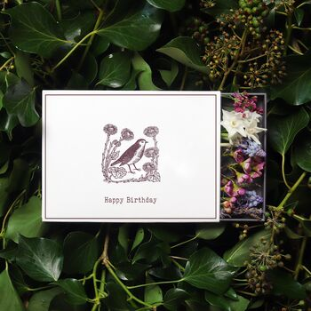 'Happy Birthday' Sleeved Botanical Box