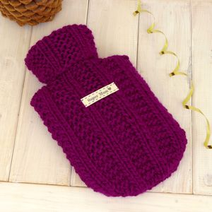 Personalised Mini Hot Water Bottle And Cover - hot water bottles & covers