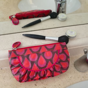 Gondola Waterproof Make Up Bag In Teardrop Print