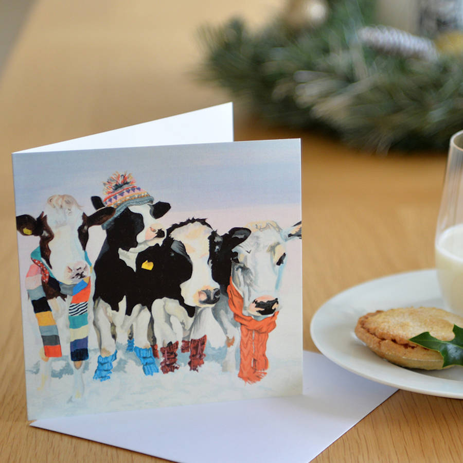 Holstein Cow Christmas Cards - Best Photos Of Cow Pnpimage.Org