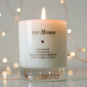 'Make A Wish In Your New Home' Candle - housewarming gifts