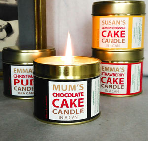 Personalised Cake Candle In A Can
