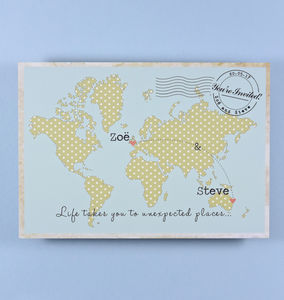 Vintage Style Map Wedding Invitations