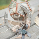 Freya Grey And Blush Lucky Wedding Horseshoe