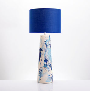 Contemporary Ceramic Wave Art Table Lamp - bedside lamps