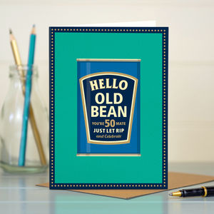 50th Birthday '50th Bean' - birthday cards