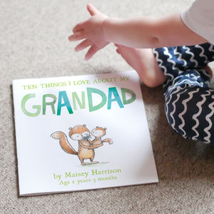 I Love My Grandparents Childrens Book - gifts for her