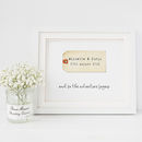 Personalised And So The Adventure Begins Wedding Print