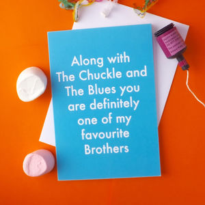 Favourite Brother Greetings Card - birthday cards
