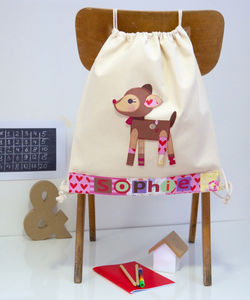 Girls Woodland Deer School Bag - more