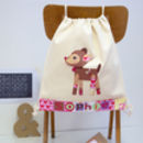 Girls Woodland Deer School Bag