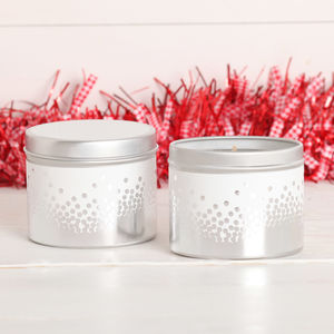 Christmas Snow Topped Scented Candle Tin