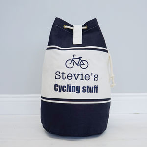 Personalised Cycling Colour Duffle Bag - holdalls & weekend bags