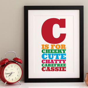 Personalised Name Print For Children